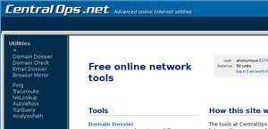 Central Ops who is domain information link