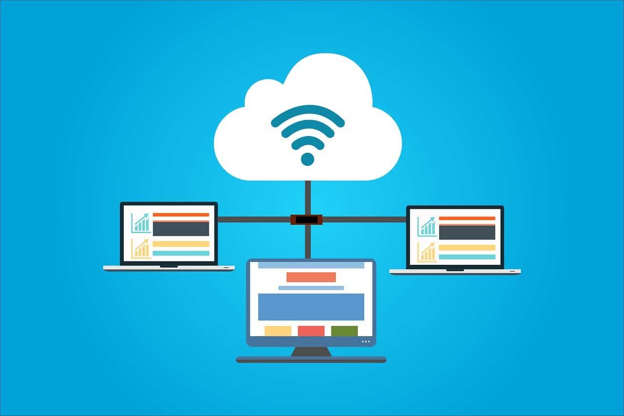 cloud, computer, hosting